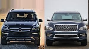 compare infiniti qx56 and lexus lx 570 2016 mercedes benz gl class vs 2016 infiniti qx80 youtube