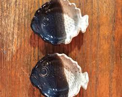 vintage fish ring holder images Terracotta dish etsy jpg