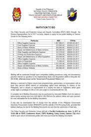 to bid invitation to bid bac secretariat pspg