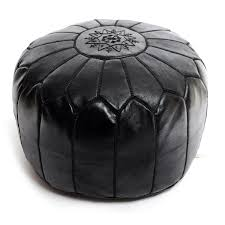 Leather Effect Ottoman Living Room Stool Low Footstool Leather Effect