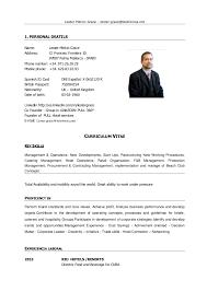 curriculum vitae hotel general manager eliolera com