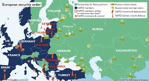 russia map border countries nato begins encirclement of russia zero hedge