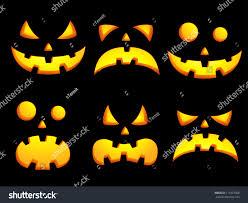 halloween stock footage set vector icons halloween smiley faces stock vector 111837908