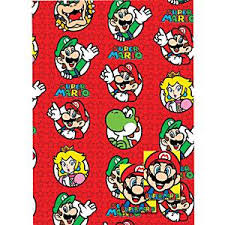 mario wrapping paper gift wrap mario wrapping paper and tags each
