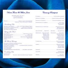wedding program catholic mass catholic church wedding program damask royal blue wedding