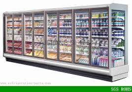 glass door chest freezer walk in freezer glass door