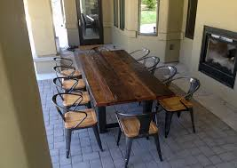 natural wood dining room table 34 incredbile reclaimed wood dining tables