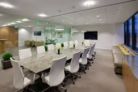 marble conference room table white leather swivel chairs with silver steel legs combined with