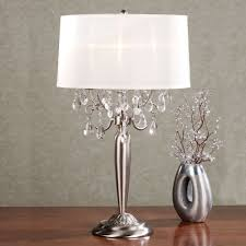 Silver Nightstand Lamps Silver Table Lamps Lighting And Ceiling Fans