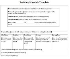 training schedule template exol gbabogados co