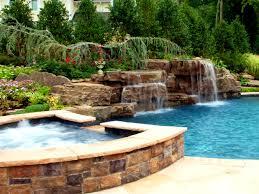 bedroom astonishing images about pool waterfall ideas backyard