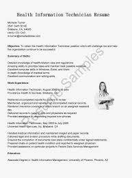Sample Computer Technician Resume by Health Information Technician Resume Resume For Your Job Application