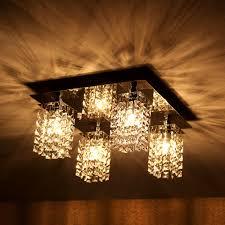 Wohnzimmer Decken Lampen Lux Pro Deckenleuchte Decken Lampe Leuchte Mesh Kristall Chrom