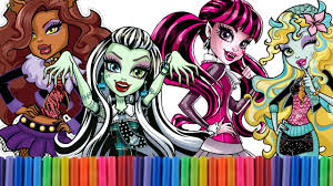art for kids coloring monster high dolls monster high coloring