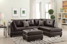 Leather Sofa With Studs by Poundex Bobkona Viola Reversible Sectional U0026 Reviews Wayfair