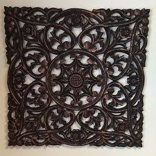 moroccan inspired 24 square decorative wood carved wall home