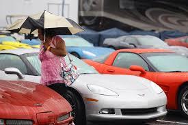 the corvettes corvette aficionados brave elements to enjoy 33rd annual