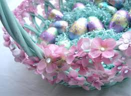 decorating easter baskets tea party flowery easter basket from suchprettythings typepad
