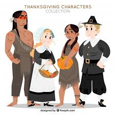 thanksgiving characters set vector free