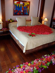 Flower Decoration For Bedroom Decorative Bed With Flowers And Candles Bridal Bedroom