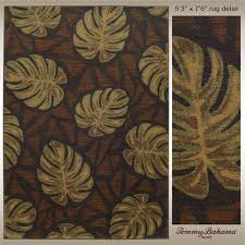 tommy bahama monstera leaf tropical rugs