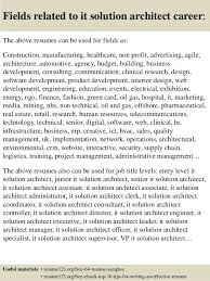 Architect Sample Resume by Top 8 It Solution Architect Resume Samples