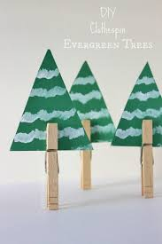 winter decorations clothespin evergreen tree diy winter decorations christmas tree diy