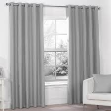 Silver Black Curtains Decorations Silver Grey Luxury Thermal Blackout Eyelet