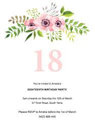 birthday invitation template template 90th birthday invitations template flat floral free