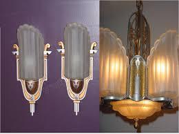 Deco Lighting Fixtures Deco Slip Shade Antique Light Fixture Vintage Lighting Fixture