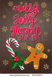 christmas holiday gingerbread card watercolor vintage stock vector