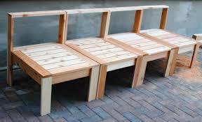 Concrete Patio Bench Homemade Garden Bench Ideas Home Outdoor Decoration