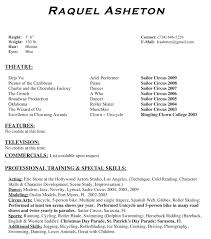 factory qualifications resume musical theatre resume template