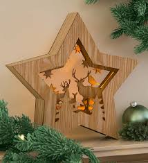 lighted christmas decorations indoor lighted woodland star accent indoor holiday decorations home