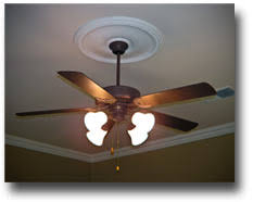 ceiling fan crown molding installing a two piece ceiling medallion