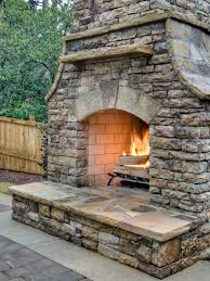 outside kitchens designs stacked stone veneer fireplace stacked