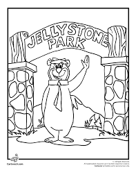 coloring pages of yogi bear yogi coloring page cartoon jr coloring pages pinterest