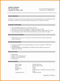 resume format for fresher maths teachers guide latest resume format unique resume format for it freshers