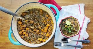 cuisine epinard soupe aux lentilles avec épinards et courge kedny cuisine