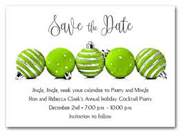 lime green ornaments save the date cards