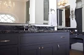 White Bathroom Vanity With Black Granite Top - honed black granite countertop design ideas