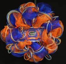 gator fans gator decor college football sports decor flordia gator fans gator decor college football sports decor flordia poly mesh deco mesh wreath item 601