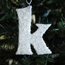 Christmas Ornaments With Initials Snow Covered Initial Christmas Ideas Pinterest Initials