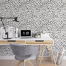 temporary wall paper dalmatian removable wallpaper cute self adhesive wallpaper