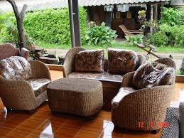woven patio furniture vintage rattan furniture ideas
