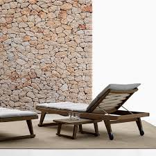 Outdoor Sun Lounge Chairs Contemporary Sun Lounger Fabric Teak Outdoor Gio B U0026b Italia