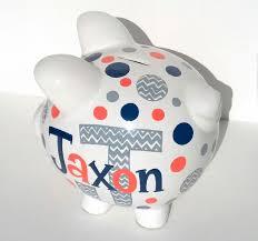 monogram piggy bank chevron monogrammed personalized piggy bank ceramic custom