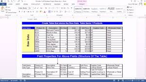 how to create a table in access office 2013 class 47 access 2013 create database import excel