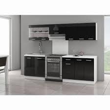 meuble de cuisine laqué idee deco cuisine avec cuisine equipee noir laque pas cher frais