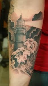 Lighthouse Tattoo Ideas Lighthouse Tattoo Love The Idea Of The Storm Against The